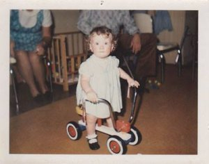 Lori King Biking First Birthday
