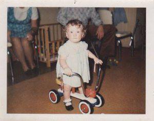 Lori King Biking First Birthday