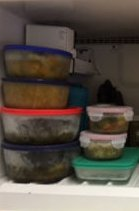 Stock your freezer with soups, veggie burgers, and frozen veggies