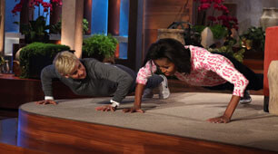 Ellen Michelle Obama Pushups
