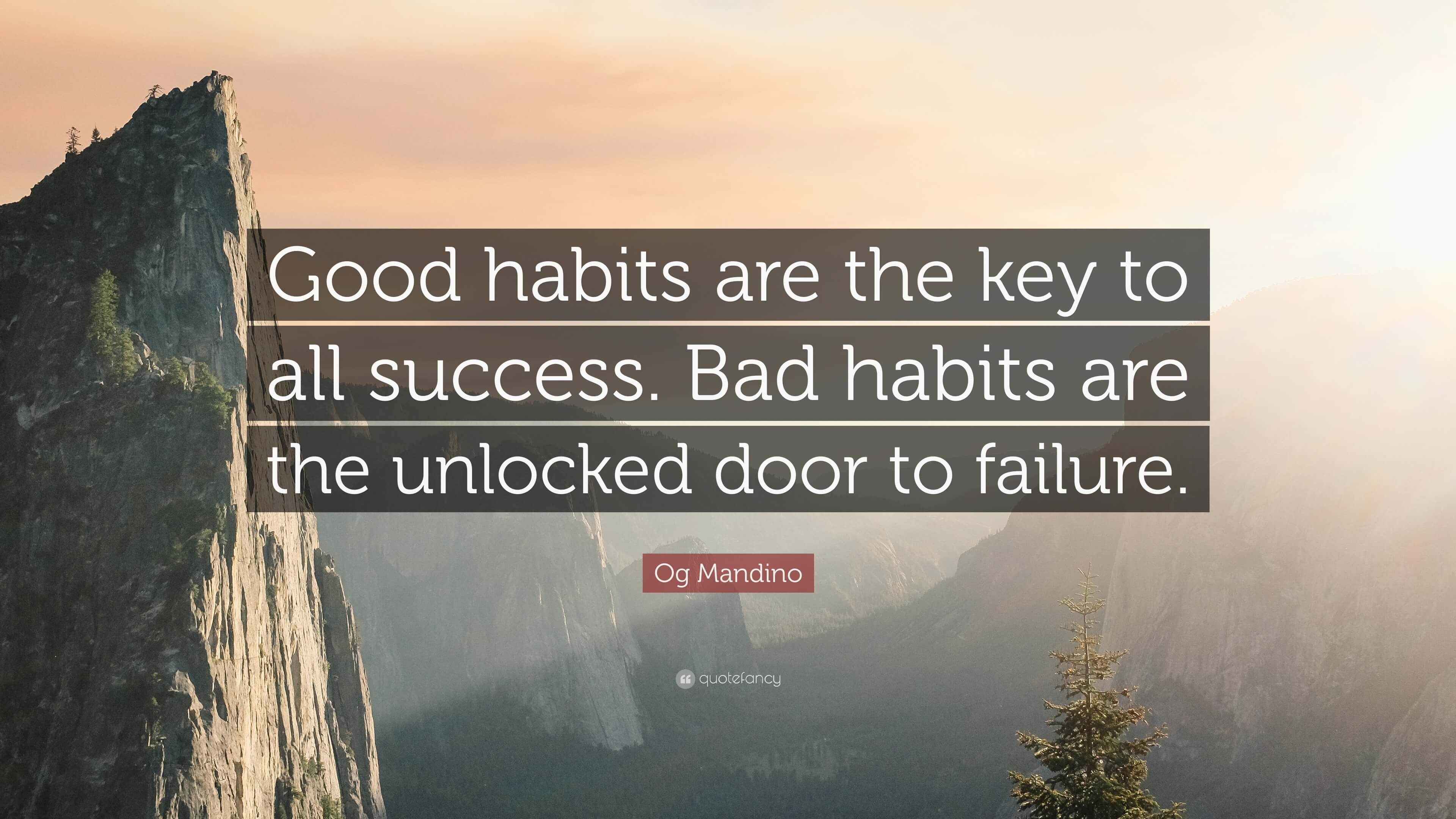 Good Habits are the Key to Success