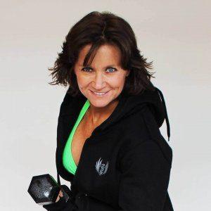 Lori Ann King, body builder modeling Stealthletic Gear