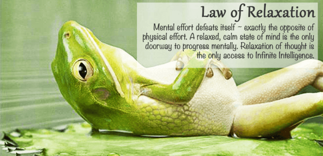 Frog Relaxing as the Law of Relaxation and Kindness