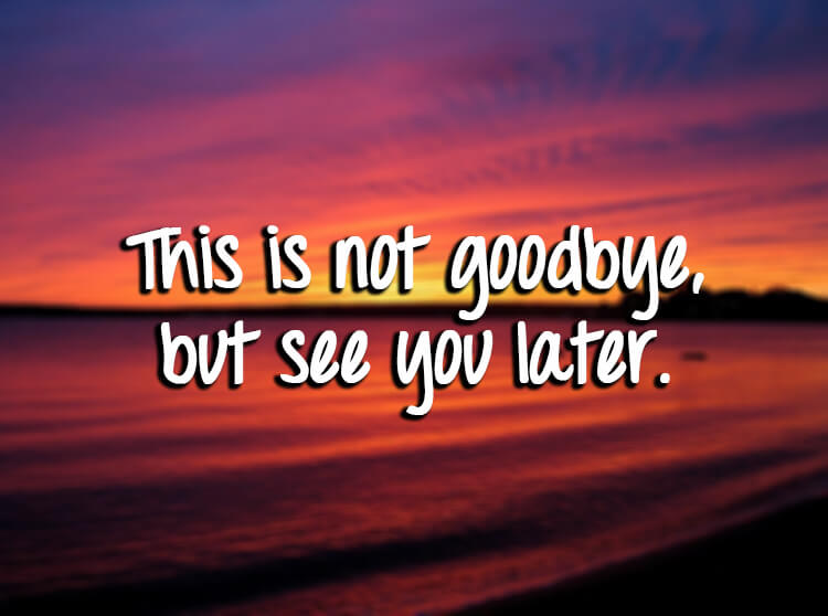 Image result for this is not goodbye
