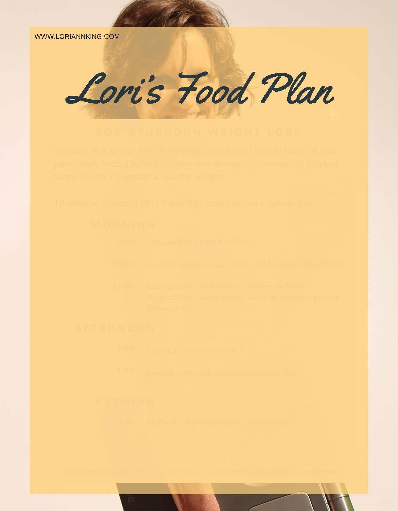 Lori's Food Plan by Lori Ann King