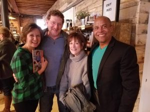 Lori King with Robin Danziger, Carol Lieberman and Jimmie D King at Rough Draft Bar and Books